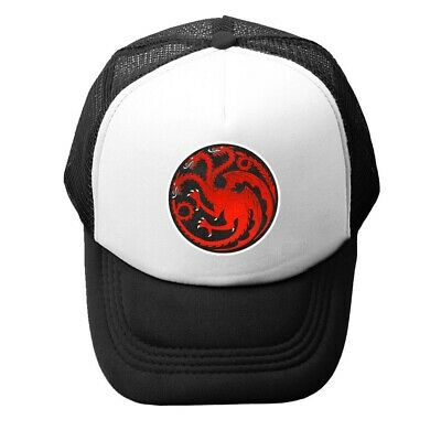 Game of Thrones House Targaryen Print Baseball Cap Trucker Mesh Curved Visor Hat