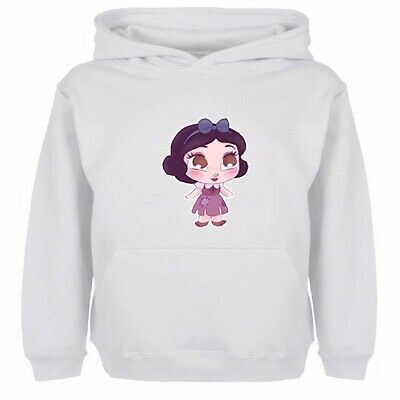 Boys Girls Hoodies Sweatshirt Pullover Disney Princess Petite Blanche Kids Tops