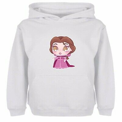 Boys Girls Hoodies Sweatshirt Pullover Disney Princess Petite Belle Kids Tops
