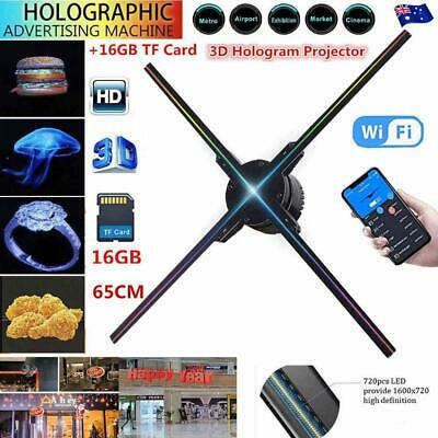 3D LED Hologram Projector WIFI Holographic Display Player Advertising 65CM New