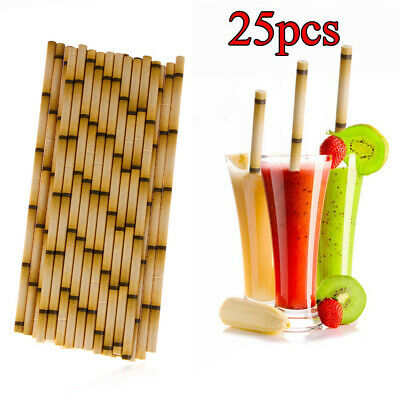 Wedding Home & Living Bar Supplies Biodegradable Drinking Straw Bamboo Paper