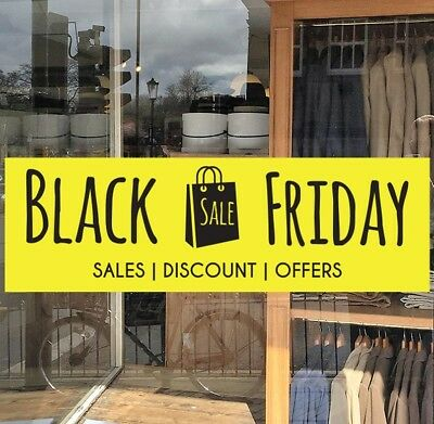 Black Friday Sale Shop Window Cling Black Friday Sale Offers Discount Sticker