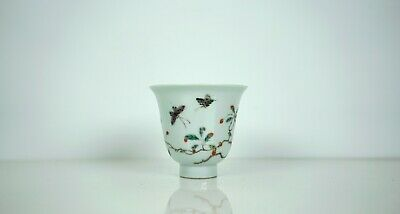 A Chinese Famille Verte 'Butterfly' Cup