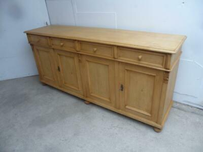 A Superbly Waxed Reclaimed Pine 2 Metre Large Kitchen Dresser Base to Wax/Paint