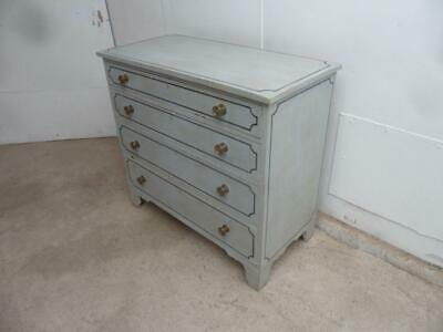 A Fantastic Painted Georgian Duck Egg Blue Large 4 Chest of Drawers
