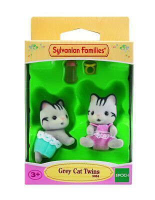 Sylvanian Families Calico Critters Baby Grey Cat Twins