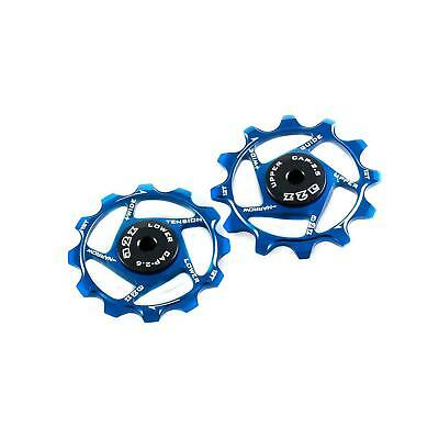 Bycycle Sram Derailleur Pulleys Narrow Wide For Bikes (12+12T, Anodized Blue)