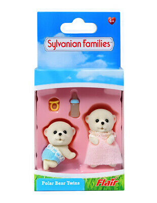 Sylvanian Families Calico Critters Beaufort Polar Bear Baby Twins