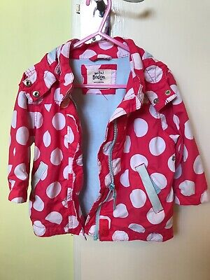Girls Mini Boden Hooded Jacket / Coat Age 1-1 1/2 Years