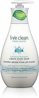 Hydrating Fresh Water Liquid Hand Soap, Live Clean, 17 oz 6 pack