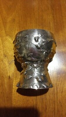 Ernst Fries Hand Crafted Australia Lava Patterned Silver Goblet-Dated 28/9/78