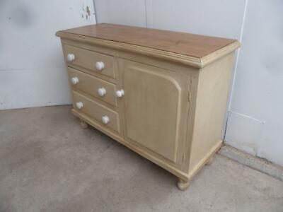 A Beautifully Painted Cream Antique/Old Pine Victorian Dresser Base to Wax/Paint