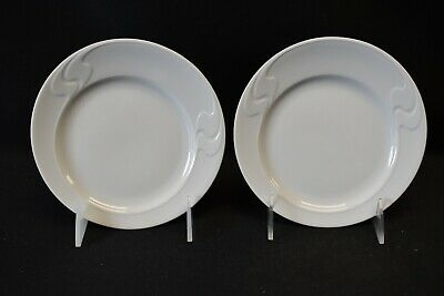 Rosenthal Continental Germany Asymmetria White Pair of Bread & Butter Plates