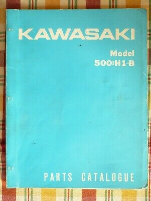 Kawasaki 500 H1-B Parts List/ Parts Catalogue 1971
