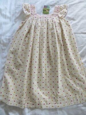 BNWT Girls Joules Cream Spotted Maisy Dress Age 9-10 yrs