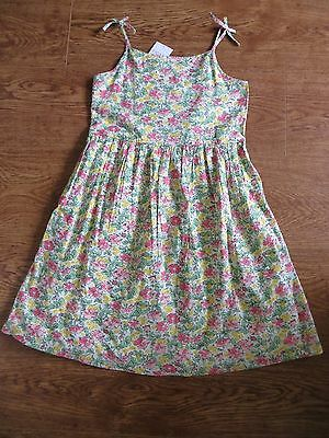 BNWT Girls Next (SP) Pink Green Yellow Floral Cotton Sleeveless Dress Age 10 yrs