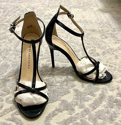 577c7126381 Womens CHINESE LAUNDRY Black Patent Leather Ankle Strap Heels Sz 7.5