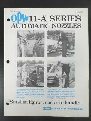 1978 Vintage OPW AUTOMATIC GAS PUMP NOZZLES Collectible Jobbers Catalog- 4 pg