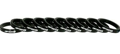 """FSA Alloy 1-1//8/"""" Assorted Headset Spacer Kit 12-Piece 3mm 5mm 10mm 20mm Black"""
