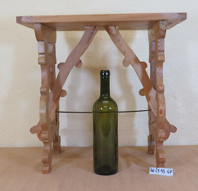 Stool Small Table Vintage Wooden Fir Ideale Also Be Used as a Footrest Gf