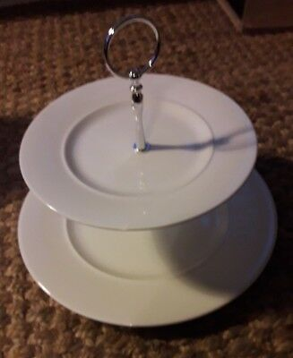 Churchill Alchemy 2 tier plate cake stand / afternoon tea tower