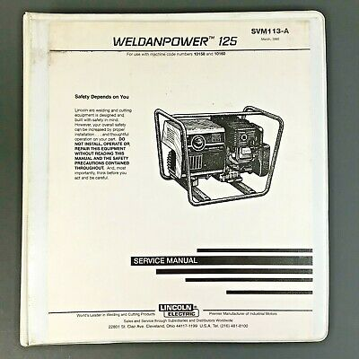 Lincoln Electric WELDANPOWER 125 Service Manual SVM113-A