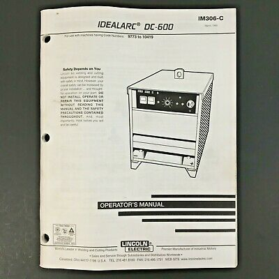 Lincoln Electric IDEALARC DC-600 Operator's Manual IM306-C