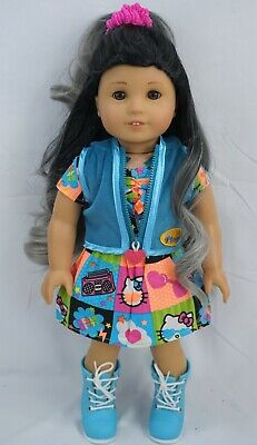 """Hello Kitty patch dress fits 18""""  dolls and american girl dolls"""