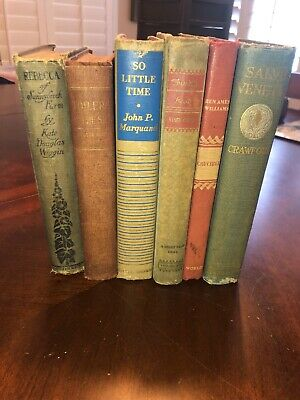 Lot Of 6 Vintage Books / Shabby Chic/ Staging Set / Classics / Instant Library