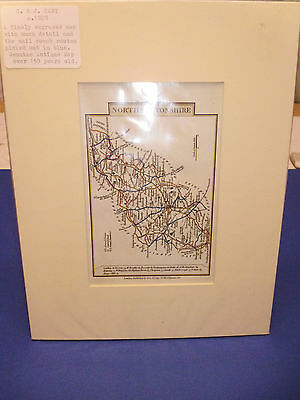 100% Original Northamptonshire Map By John Cary C1828 Vgc Free Postage
