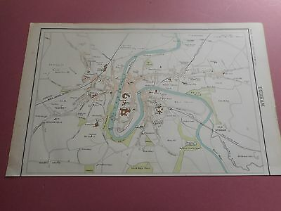 100% Original Durham  Map  By Bartholomew C1890 Vgc Railways