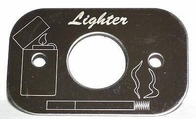 Peterbilt Stainless Cigarette Lighter Trim - Engraved