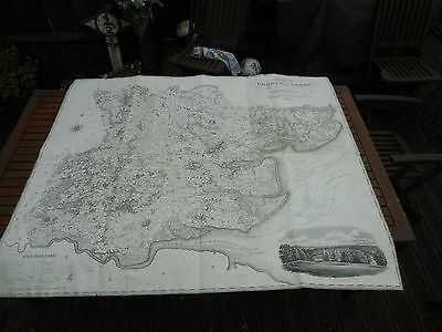 100% Originalvery  Large Scale Essex  Map By Greenwood C1824