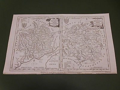 100% Original Monmouth/Hereford Map By Conder/Hogg C1794 Vgc Low Uk Postage