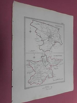 100% Original Hereford Leominster  Town Plan Map By Creighton C1842 Vgc