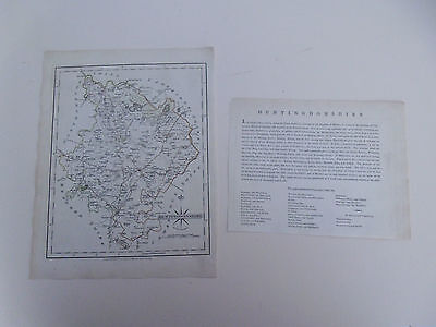 100% Original Huntigdonshire Map By  John Cary C1793 Vgc Free Postage