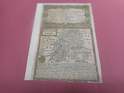 100% Original Gloucestershire  Map By Bowen C1720 Vgc