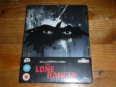 The Lone Ranger  Limited Edition Steelbook Blu-ray Disney NEW SEALED