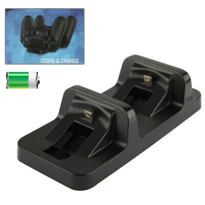 Ladestation Halterung  2x Playstation 4 Sony PS4 Dualshock Controller Dock Z27