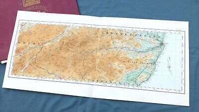 SCOTLAND, 1924 - Vintage Cloth OS Map of THE GRAMPIANS and ABERDEENSHIRE.
