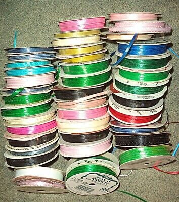 42 Ribbon Reels in Assorted Colors & Widths
