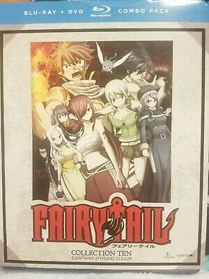 FAIRY TAIL SEASON/COLLECTION 10 BLU RAY DVD COMBO PACK BRAND NEW Sealed