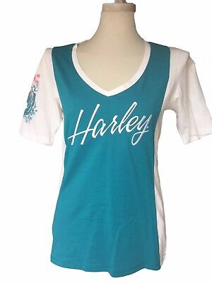 c74a826af46 HARLEY-DAVIDSON WOMEN S LONG Sleeve Moisture wicking Blue ICE shirt ...