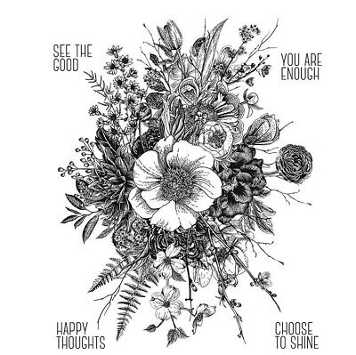 Stampers Anonymous Tim Holtz Cling Mounted Rubber Stamp Set Glorious Garden