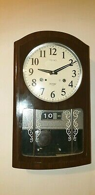 Vintage Seiko Japan 30 Day / Date / Wall Clock , Super Condition / Key/Working