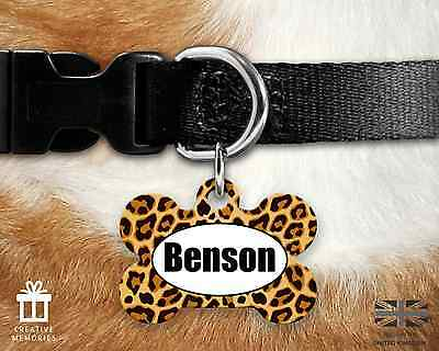 Custom Personalised Pet Dog Name ID Tag For Collar Pet Tags - Engraved - Animal