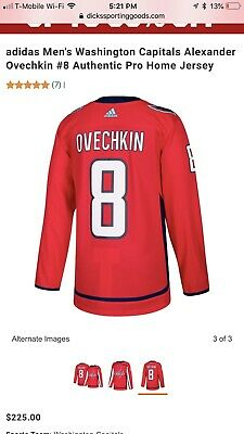 new arrival b5121 cf1d0 AUTHENTIC NHL OVECHKIN BRAND NEW Jersey Capitals Washington ...