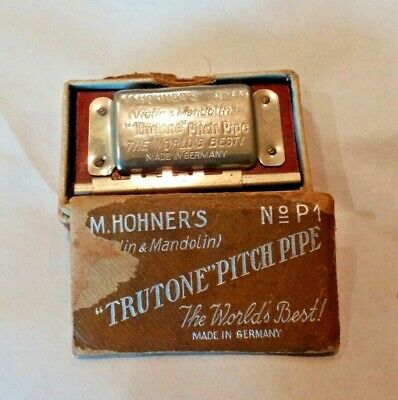 M. Horner's Trutone Pitch Pipe No P1 Boxed Vintage Germany