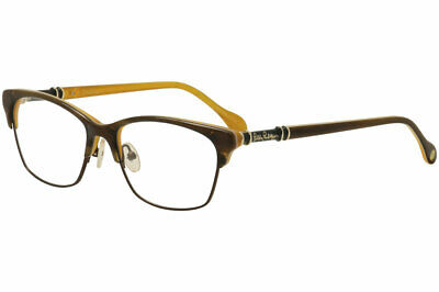 d6d62a8ebea Lilly Pulitzer Women s Eyeglasses Ashby MN Tortoise Monaco Optical Frame  52mm