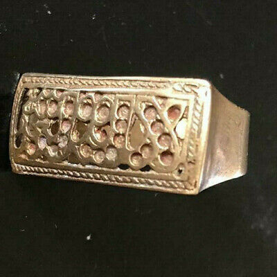 Gorgeous Ancien Antique vintage Bronze Wedding Islamic Ring